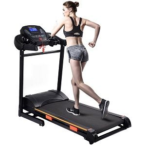 Goplus 1000W Folding Electric Treadmill Motorized Power Treadmill