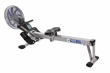 Stamina 35-1405 ATS Air Rower 1405 Rowing Machine Air Resistance LCD Fitness Monitor Folding and Built in Wheels Chrome Blue Black