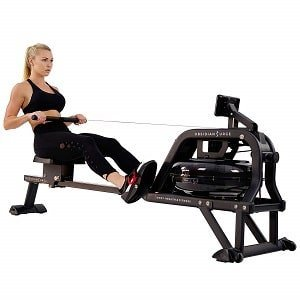 Sunny Health & Fitness Water Rowing Machine Rower wLCD Monitor